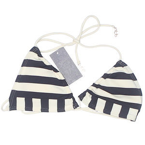 Juicy Couture Striped Print Swimsuit Bikini Top